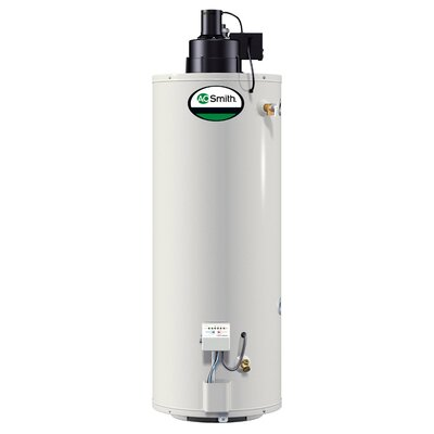 A.O. Smith GPVX-50 Water Heater Residential Nat Gas 50 Gal ProMax Power Vent 65,000 BTU