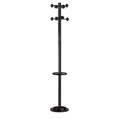 Kos Lighting Accueil Coat Stand with 8 Pegs Finish: Black