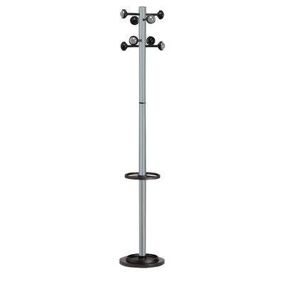 Kos Lighting Accueil Coat Stand with 8 Pegs Finish: Gray