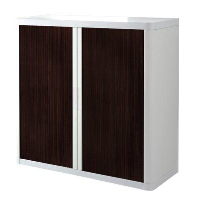 EasyOffice 2 Door Storage Cabinet Cabinet Finish: White, Door Finish: Wenge
