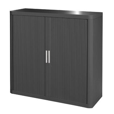 EasyOffice 2 Door Storage Cabinet Cabinet Finish: Anthracite, Door Finish: Anthracite