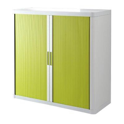 EasyOffice 2 Door Storage Cabinet Cabinet Finish: White, Door Finish: Green