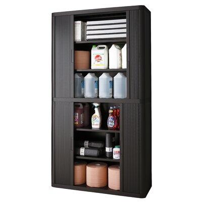 EasyOffice Storage Cabinet Cabinet Finish: Black, Door Finish: Black