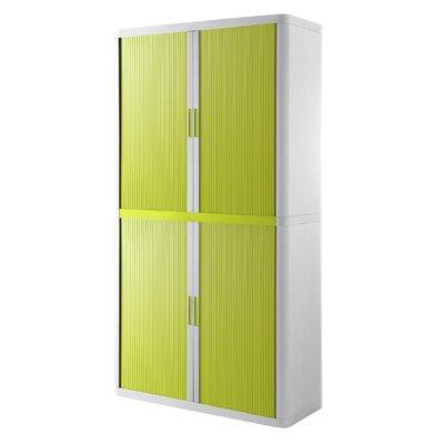 EasyOffice Storage Cabinet Cabinet Finish: White, Door Finish: Green