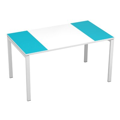 "EasyDesk Training Table Finish: White / Teal, Size: 30"" H x 63"" W x 32"" D"