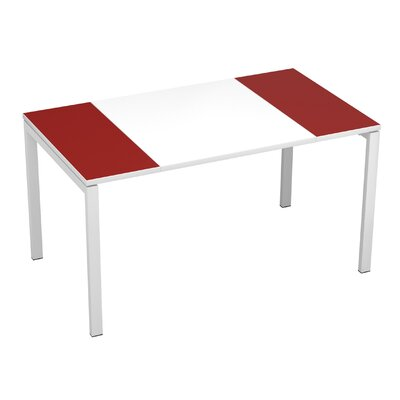 "EasyDesk Training Table Finish: White / Maroon, Size: 30"" H x 63"" W x 32"" D"
