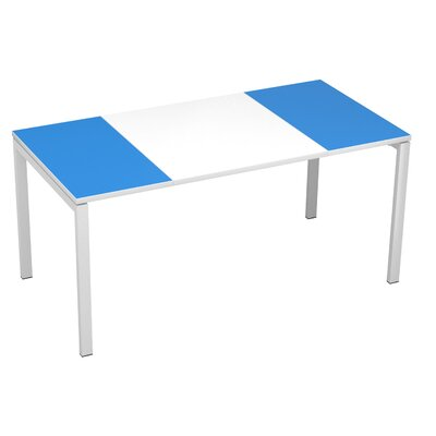 "EasyDesk Training Table Finish: White / Brown, Size: 30"" H x 63"" W x 32"" D"
