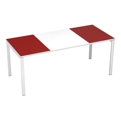 "EasyDesk Training Table Finish: White / Maroon, Size: 30"" H x 71"" W x 32"" D"