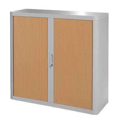 EasyOffice 2 Door Storage Cabinet Cabinet Finish: Gray, Door Finish: Beech