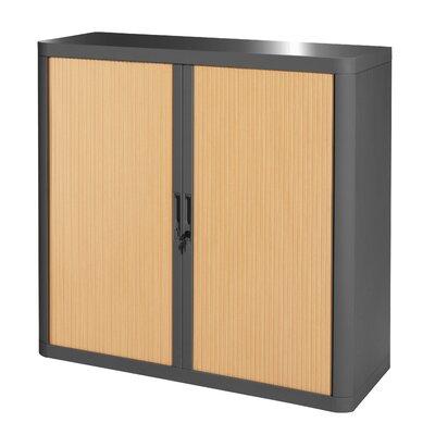 EasyOffice 2 Door Storage Cabinet Cabinet Finish: Charcoal, Door Finish: Beech