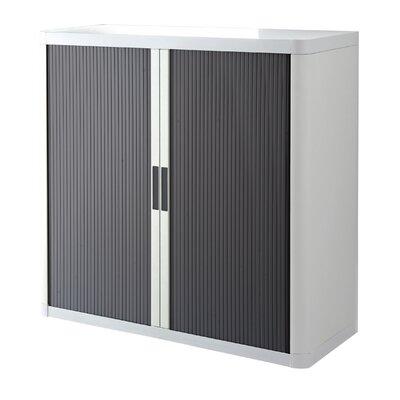 EasyOffice 2 Door Storage Cabinet Cabinet Finish: White, Door Finish: Anthracite