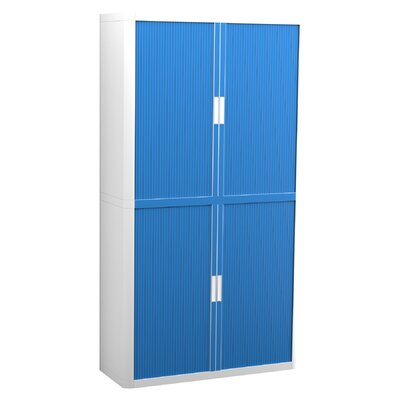 EasyOffice Storage Cabinet Cabinet Finish: White, Door Finish: Blue