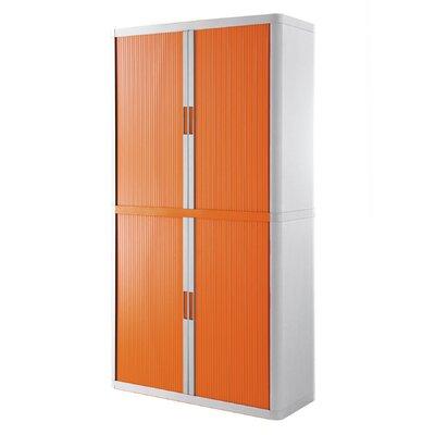 EasyOffice Storage Cabinet Cabinet Finish: White, Door Finish: Orange