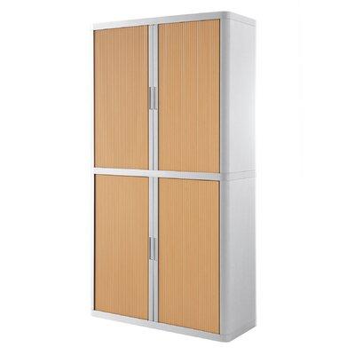 EasyOffice Storage Cabinet Cabinet Finish: White, Door Finish: Beech