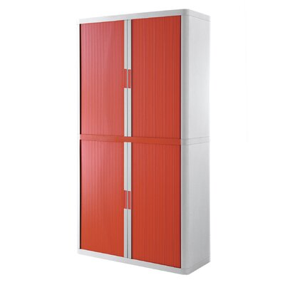 EasyOffice Storage Cabinet Cabinet Finish: White, Door Finish: Red