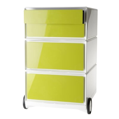 EasyOffice Storage Cabinet Color: White/Green