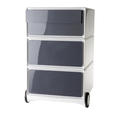 EasyOffice Storage Cabinet Color: White/Antracite
