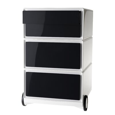 EasyOffice Storage Cabinet Color: White/Black