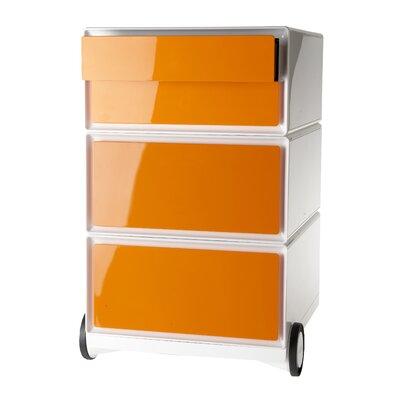EasyOffice Storage Cabinet Color: White/Orange