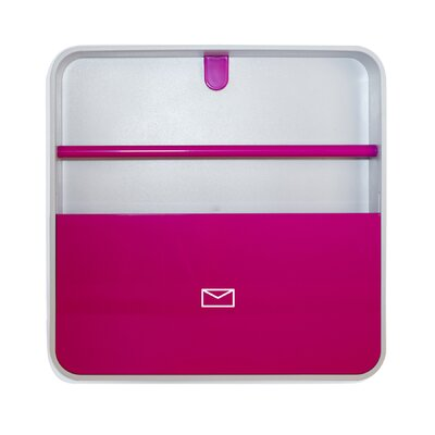 ≈ Wall Mounted Magazine Rack Finish: Pink For Sale