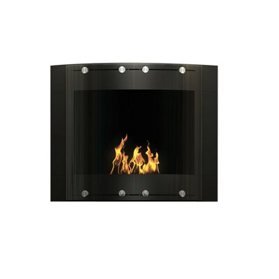 Arch Wall Mounted Bio-Ethanol Fireplace Finish: Black
