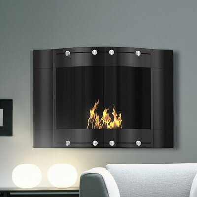 Decoflame Wall Mounted Bio-Ethanol Fireplace Finish: Stainless and Black