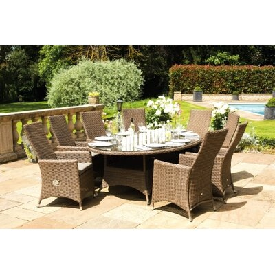 Life Amber 8 Seater Dining Set with Cushions