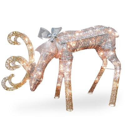 Crystal Feeding Deer Christmas Decoration