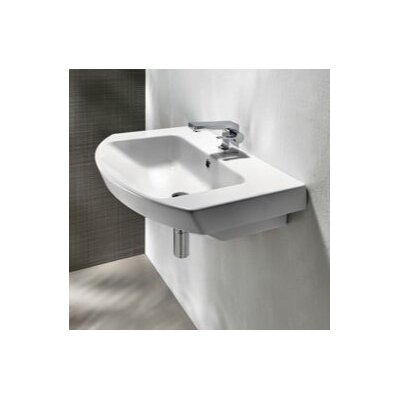 Modo Ceramic Rectangular Drop-In Bathroom Sink with Overflow Faucet Mount: Single Hole