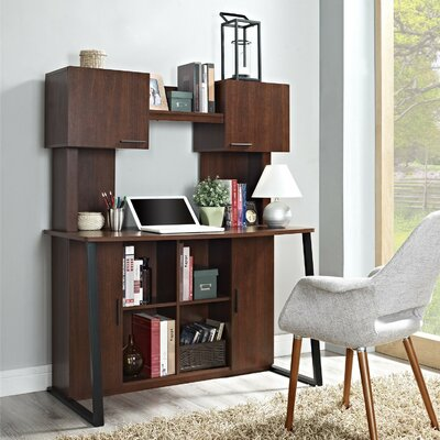 Credenza Desk with Hutch
