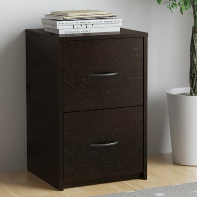 Gammons 2 Drawer Vertical Filing Cabinet Finish: Espresso