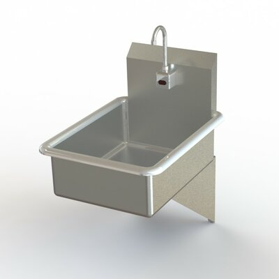 "NSF 19"" x 25"" Single Wall Mount Bathroom Hand Sink with Faucet"