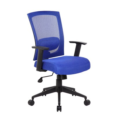 Mesh Desk Chair Upholstery: Blue