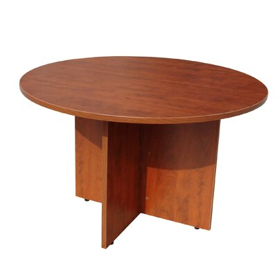 "Laminate Series Circular Conference Table Finish: Cherry, Size: 3' 6"" L"