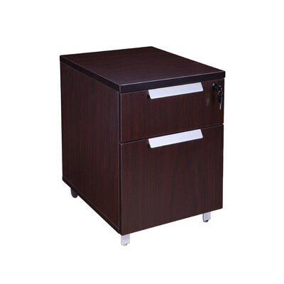Modular Laminate 2-Drawer Mobile Vertical Filing Cabinet