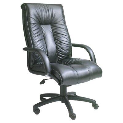 Leather Executive Chair Tilt: Spring, Base: Chrome