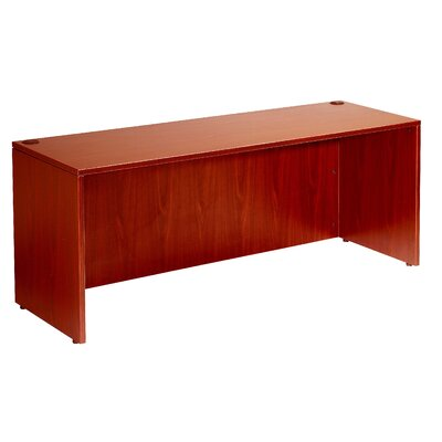 "Executive Desk Shell Color: Cherry, Size: 36"" x 71"""