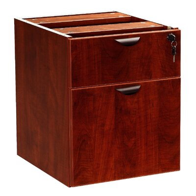 "Case Goods 19"" H x 16"" W Desk File Pedestal Finish: Mahogany"