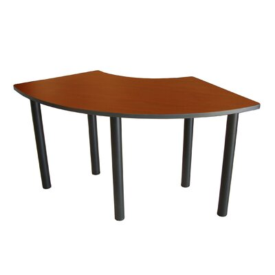 "59"" W Crescent Training Table Tabletop Finish: Cherry"