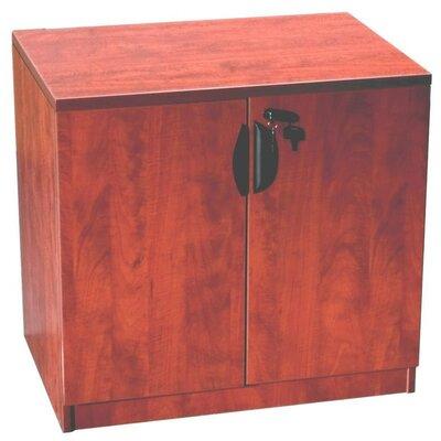 2 Door Storage Cabinet Finish: Cherry
