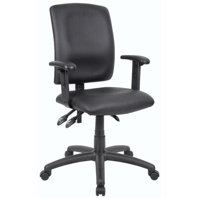 Budget Leather Desk Chair Arms: Adjustable Arms
