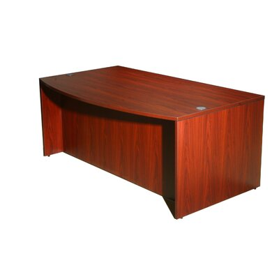 Wood Bow Front Executive Desk Shell Color: Mahogany