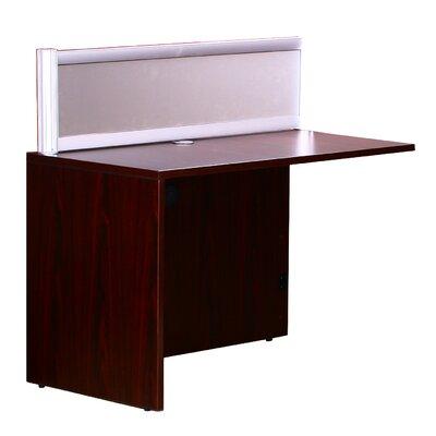 "Reception 42.5"" H x 48"" W Reversible Desk Return Finish: Mahogany"