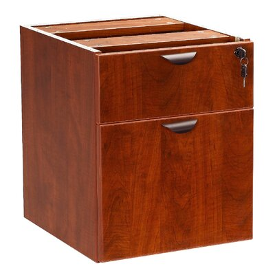 "Case Goods 19"" H x 16"" W Desk File Pedestal Finish: Cherry"