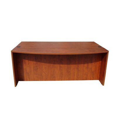Wood Bow Front Executive Desk Shell Color: Cherry