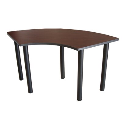 "59"" W Crescent Training Table Tabletop Finish: Mahogany"