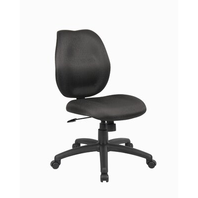 Desk Chair Upholstery: Black, Arms: Not Included