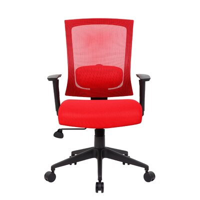 Mesh Desk Chair Upholstery: Red