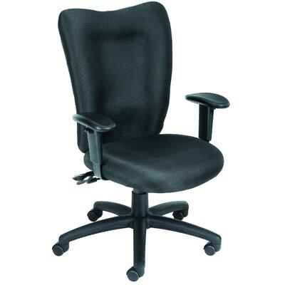 Desk Chair Seat Slide: Included, Upholstery: Black