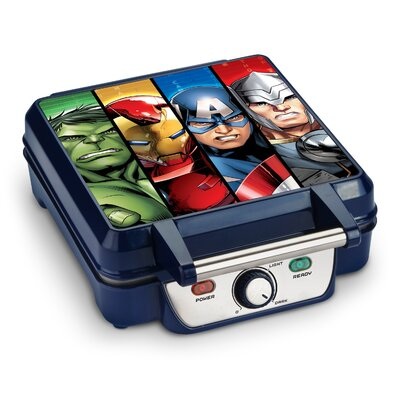 Avengers Characters 4-Slice Waffle Maker